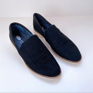 Dr Scholl's Fabric Navy Slip On Loafers US7.5